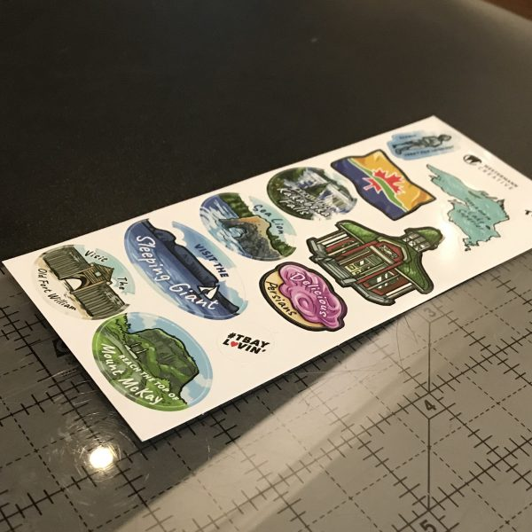 Angle of Thunder Bay Stickers