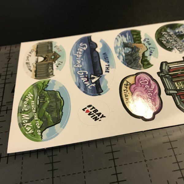 Close Up of Thunder Bay Art Stickers
