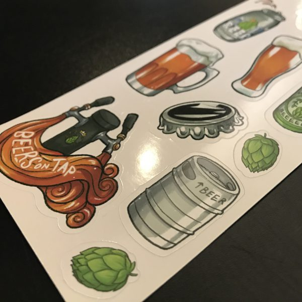 Beer Stickers Close Up