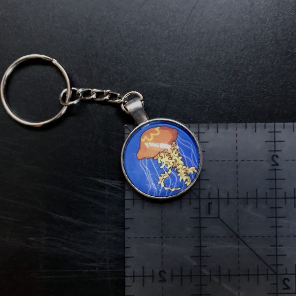side reference for jellyfish art keychain