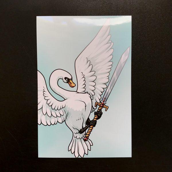 Swan and Sword Original Art Print