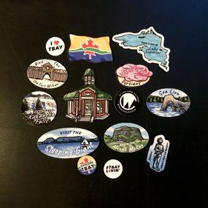 Thunder Bay Magnets Set arranged on black surface