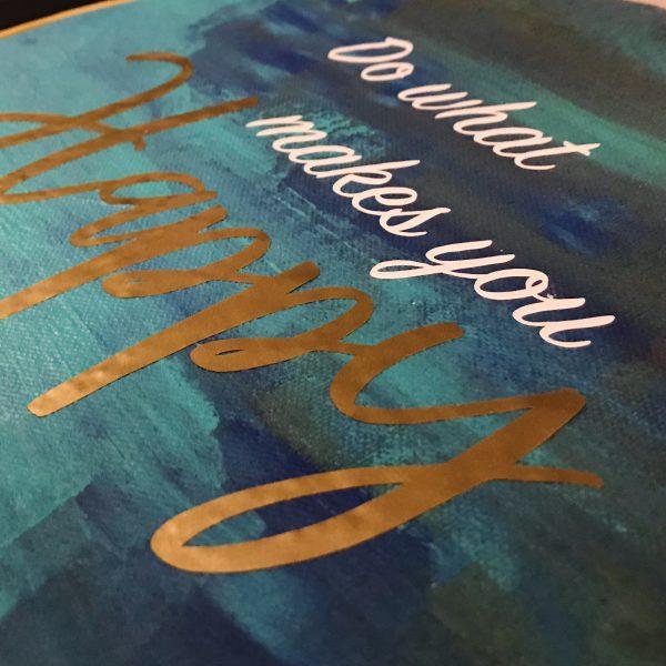 Detail of inspirational art lettering