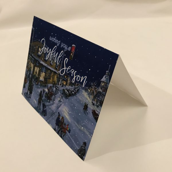 bay and algoma district shopping winter art