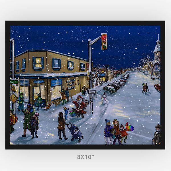 bay algoma window shopping 8x10 framed Thunder Bay art print