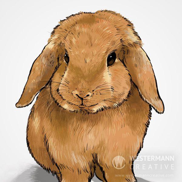 Custom Portrait of Bunny