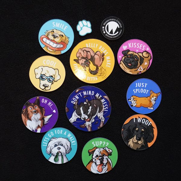 happy dawgs magnets by Westermann creative