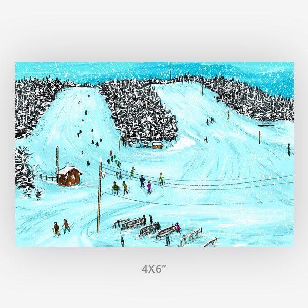 small 4x6 tourism Thunder Bay gift idea mount baldy art print