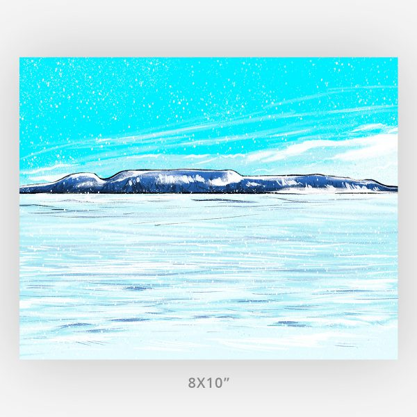 The Sleeping Giant in Winter The Snowy Giant 8x10 Thunder Bay art print