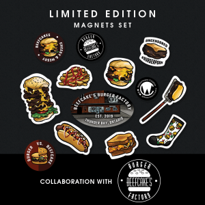 Beefcake's Burger Factory, Thunder Bay magnet set by Westermann Creative