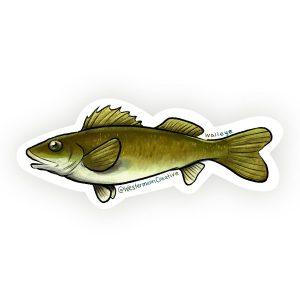Walleye Fish Art Sticker