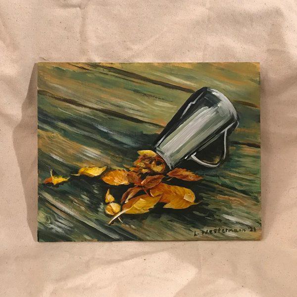 The Treasure Pot, Acrylic on Wooden Board Original Painting